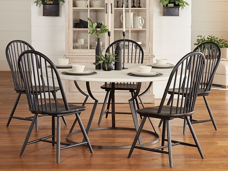 Dining Regarding Favorite Magnolia Home Shop Floor Dining Tables With Iron Trestle (View 15 of 20)