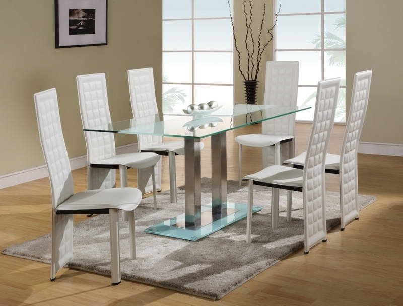 Dining Room: Best Glass Dining Room Sets Round Glass Dining Table With Regard To Newest White Glass Dining Tables And Chairs (View 5 of 20)