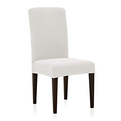 Dining Room Chairs Inside Most Current Amazon: Subrtex Stretch Dining Room Chair Slipcovers (4, Creme (View 4 of 20)
