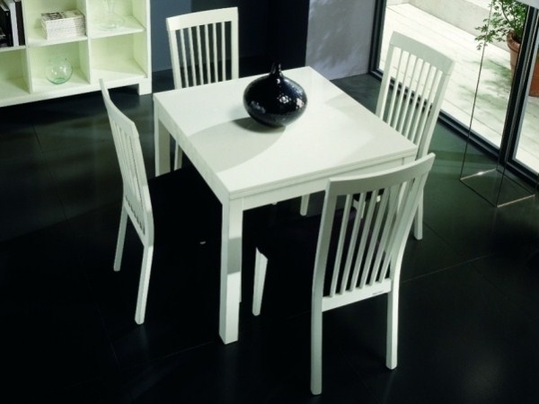 Dining Room Chairs Pertaining To Recent White Square Extending Dining Tables (View 6 of 20)