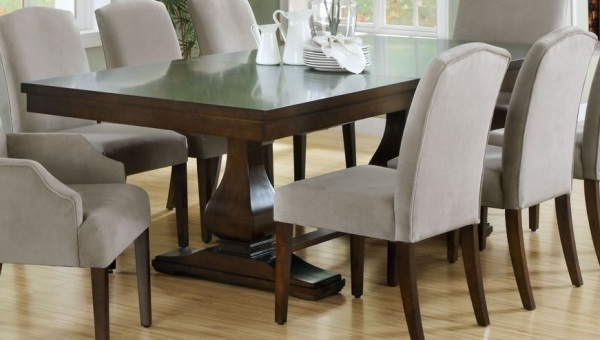 Dining Room Design: Dark Wooden Extension Dining Table, Dining Table Within Most Popular Dark Wood Dining Tables (View 8 of 20)