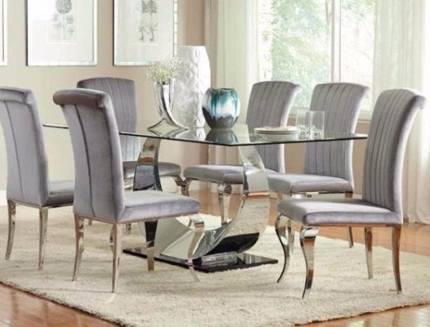 Dining Room Furniture – Bellagio Furniture And Mattress Store Intended For Best And Newest Chrome Dining Room Chairs (View 10 of 20)