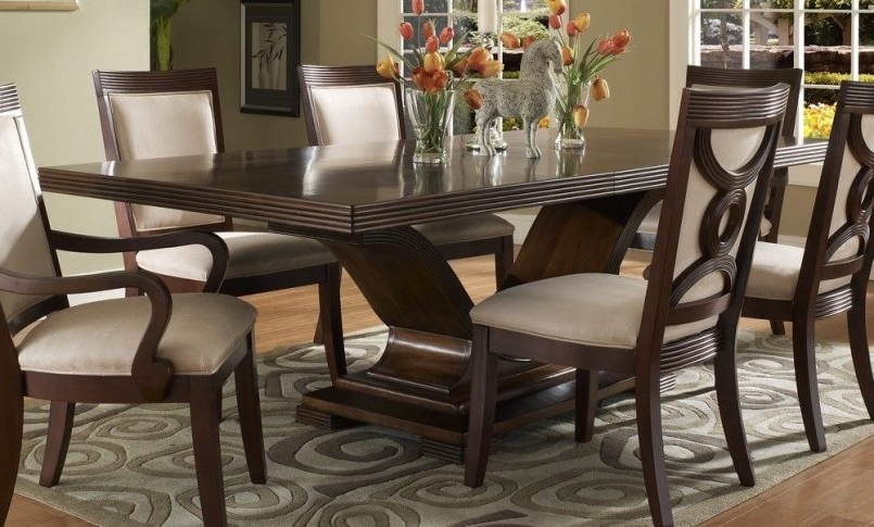 Dining Room Handcrafted Wooden Dining Tables Dark Wood Dining Table With Preferred Dark Wood Dining Tables And Chairs (View 12 of 20)