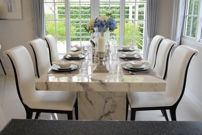 Featured Photo of Marble Dining Tables Sets