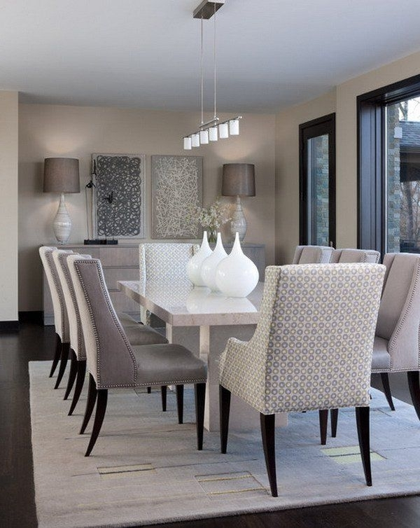 Dining Room In Modern Dining Table And Chairs (Gallery 8 of 20)