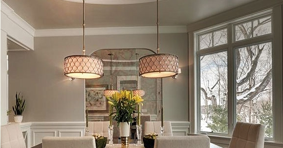 Dining Room Lighting Fixtures & Ideas At The Home Depot Throughout Current Dining Tables Ceiling Lights (Gallery 12 of 20)