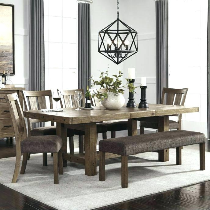 Dining Room Sets With Bench Market 6 Piece Dining Set With Side Within Well Known Market 6 Piece Dining Sets With Side Chairs (Gallery 9 of 20)