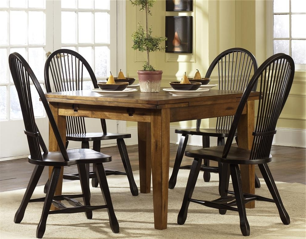 Dining Room Table Within Craftsman 7 Piece Rectangular Extension Dining Sets With Arm & Uph Side Chairs (View 6 of 20)