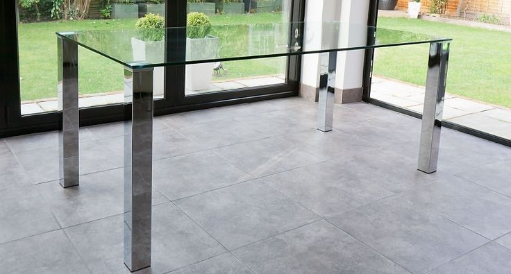 Dining Room Tables, Dining Regarding Chrome Glass Dining Tables (View 7 of 20)