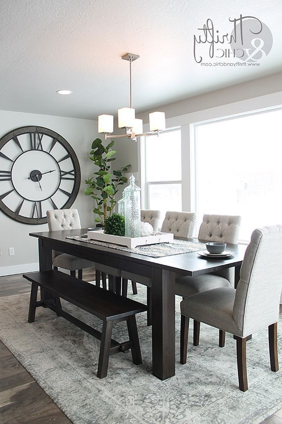 Dining Room Tables Pertaining To Most Up To Date How To Decorate With Large Clocks (And My Favourite Oversized Clocks (Gallery 7 of 20)