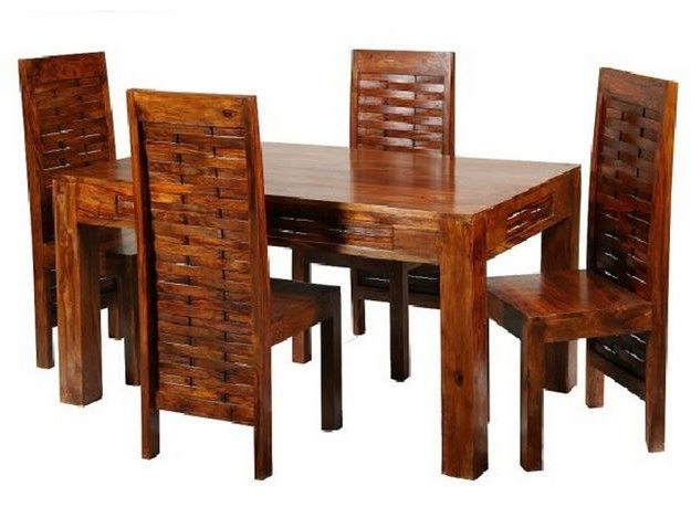 Dining Room Wooden Furniture Sets Inside Indian Wood Dining Tables (View 6 of 20)