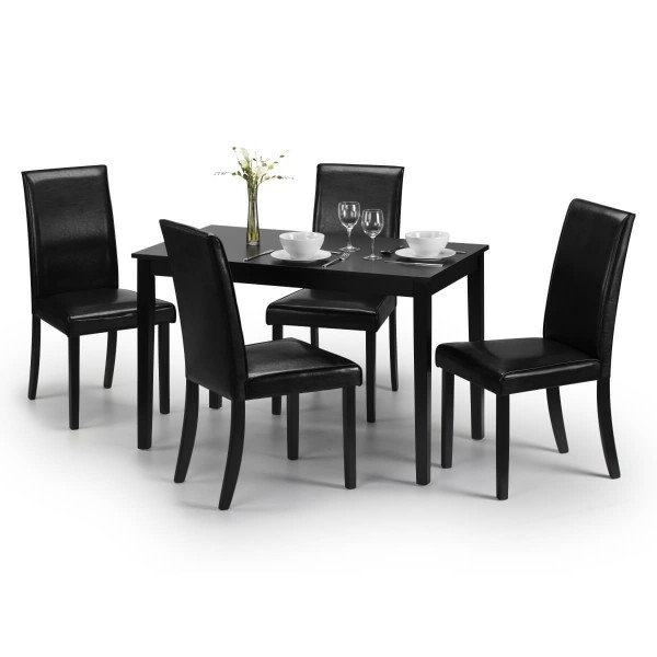 Dining Set – Hudson Dining Table And 4 Chairs In Black Hud006 Regarding 2017 Hudson Dining Tables And Chairs (View 9 of 20)