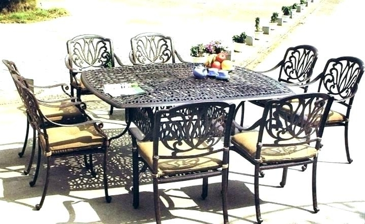 Dining Sets For 8 Square Patio Dining Set Seats 8 – Insynctickets Within Widely Used 8 Seat Outdoor Dining Tables (View 12 of 20)
