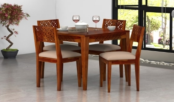 Dining Sets For Best And Newest Dining Table Sets: Buy Wooden Dining Table Set Online @ Low Price (Gallery 13 of 20)