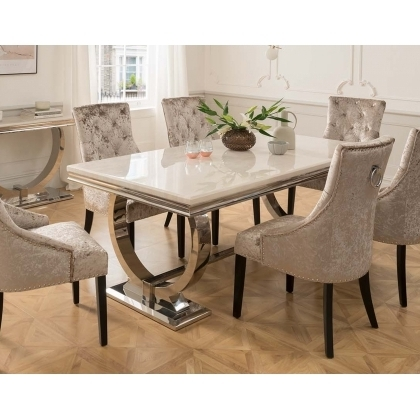 Dining Sets In Cornwall & Devon At Furniture World – Furniture World With Regard To Fashionable Cream Lacquer Dining Tables (View 10 of 20)