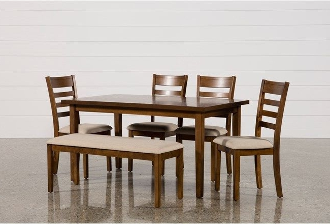 Dining, Side Chair And Bench Within Fashionable Rocco 7 Piece Extension Dining Sets (Gallery 7 of 20)