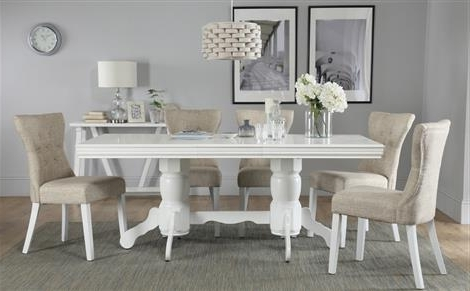 Featured Photo of White Dining Tables With 6 Chairs