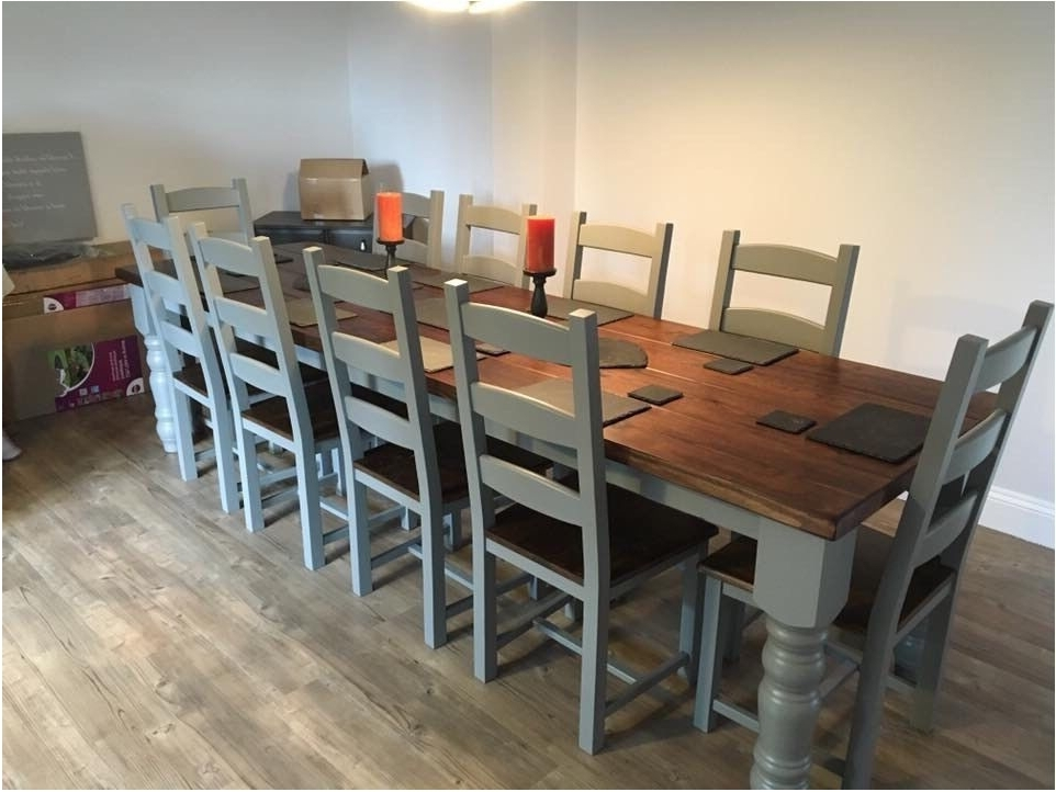Dining Table And 10 Chairs Within Well Known Incredible Large Dining Table And Chairs Uk Table Design Handmade (Gallery 14 of 20)