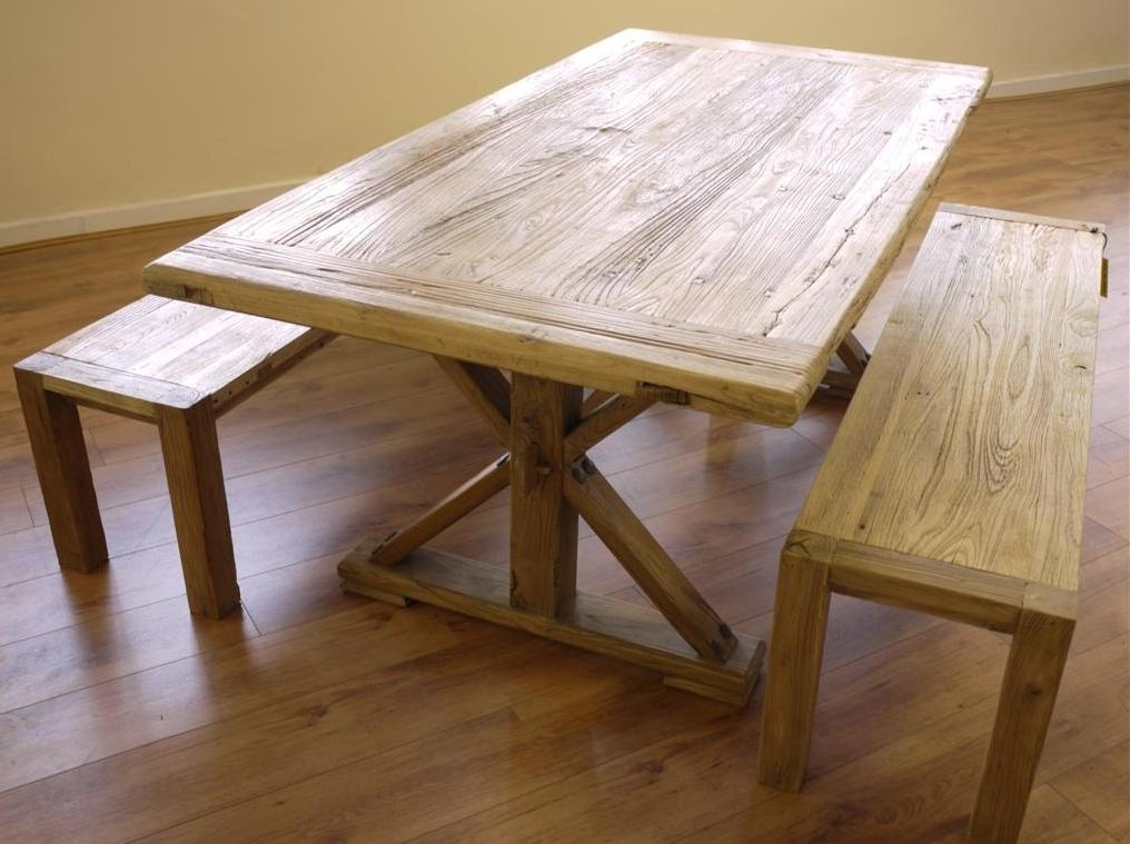 Dining Table And Benches – House Plans And More House Design Within Best And Newest Dining Tables And 2 Benches (Gallery 10 of 20)