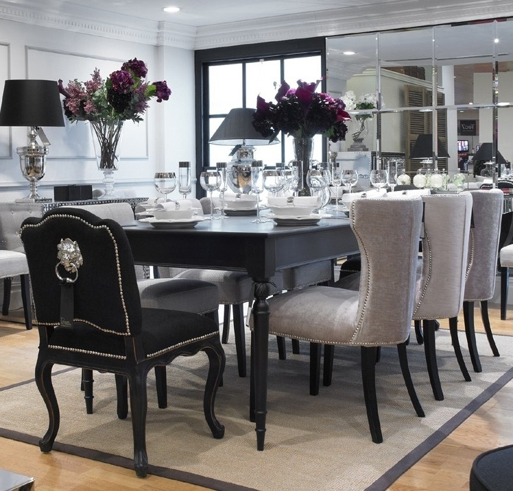 Dining Table Black Set And White — The Home Redesign : Elegant Black With Well Known Black Dining Tables (View 9 of 20)