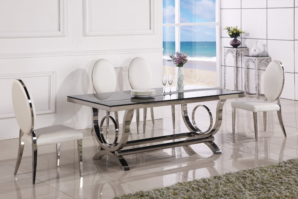 Dining Table Marble And Chair Cheap Modern Dining Tables 6 Chairs In Inside Widely Used Glass Dining Tables And 6 Chairs (View 16 of 20)