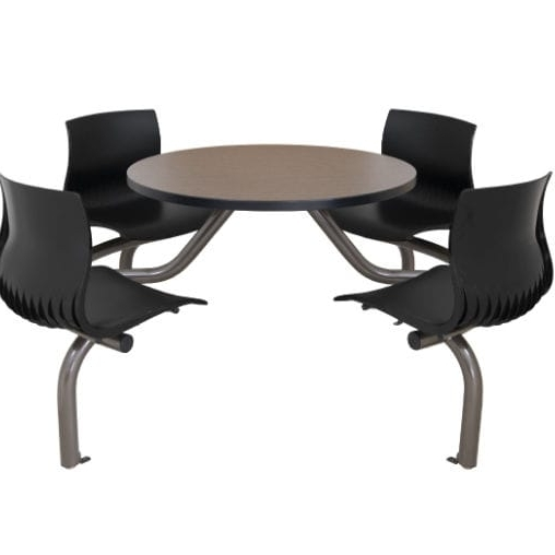 Dining Table / Round / With Attached Chair – Cora – Erg International Within 2017 Cora Dining Tables (View 9 of 20)