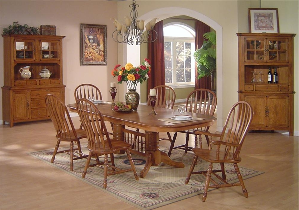Dining Table Set Oak – Castrophotos Inside Well Known Oak Dining Tables Sets (Gallery 15 of 20)