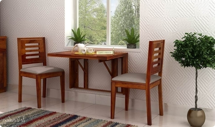 Dining Table Sets: Buy Wooden Dining Table Set Online @ Low Price For Well Liked Dining Table Sets For 2 (Gallery 14 of 20)