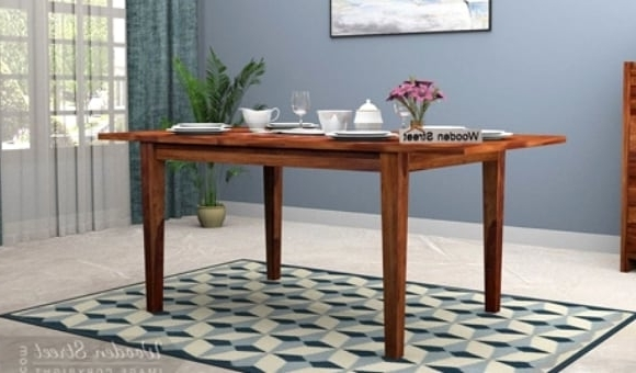 Dining Table Sets: Buy Wooden Dining Table Set Online @ Low Price Regarding Newest Wood Dining Tables (View 5 of 20)