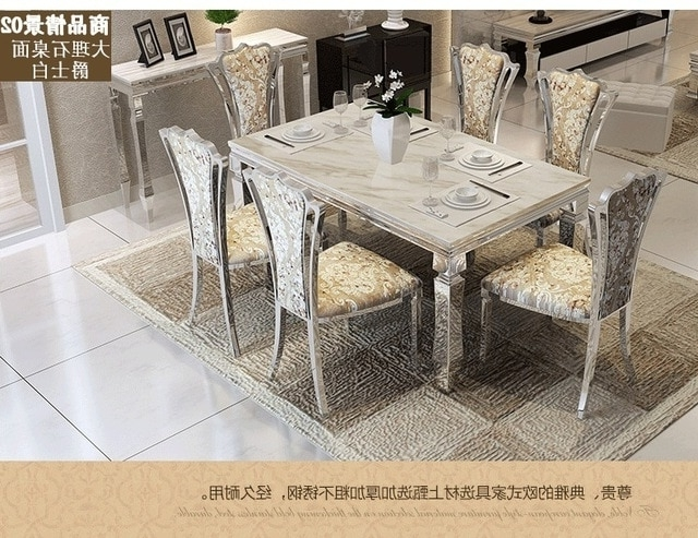 Dining Table Sets Marble Dining Table 4 Chairs Modern Stylish Dining Within Well Known Cheap Dining Tables Sets (View 7 of 20)