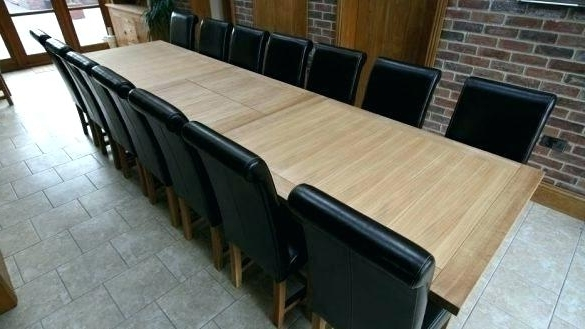 Dining Table To Seat 14 Extending Dining Table Seats Excellent With Popular Extending Dining Tables With 14 Seats (View 5 of 20)