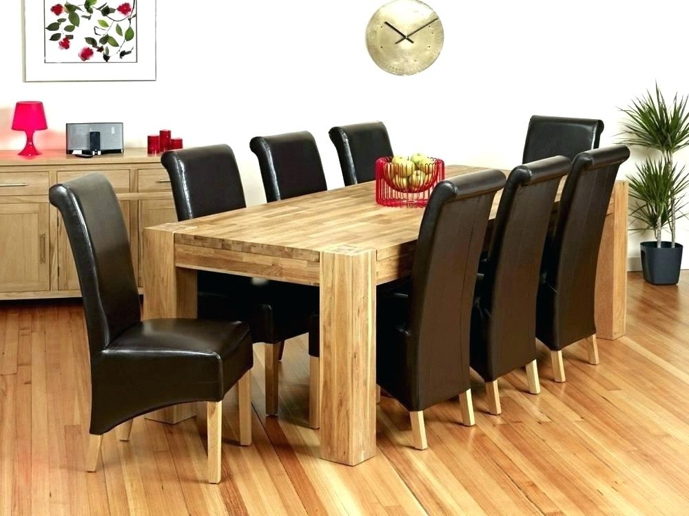 Dining Tables 8 Chairs Throughout Well Known Square Wood Dining Table For 8 – Buxenz (View 8 of 20)