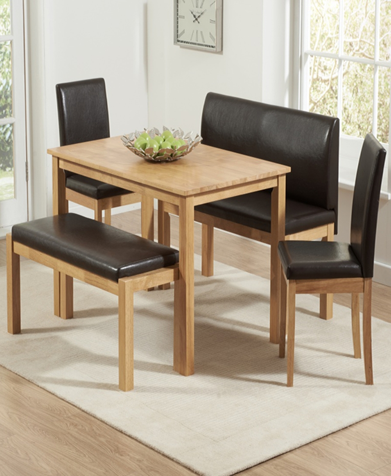 Dining Tables And 2 Chairs In Most Popular Dining Table With 2 Benches & 2 Chairs (View 5 of 20)