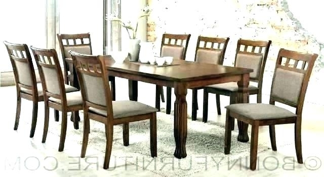 Dining Tables And 8 Chairs Sets Intended For Most Popular Set Of 8 Dining Chairs Dining Table With Set Of 8 Dining Chairs Set (Gallery 15 of 20)