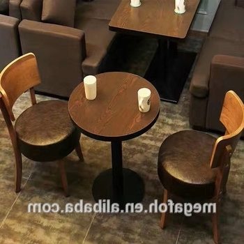 Dining Tables And Chairs Sets Throughout Well Known Cheap Price Round Cafe Dining Table Chair Sets For Coffee Restaurant (Gallery 20 of 20)