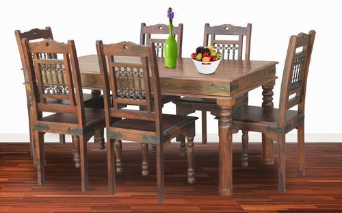 Dining Tables And Six Chairs In Well Liked Six Chairs Dining Table Sets – Six Chair Dining Table Set (View 6 of 20)