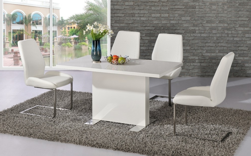 Dining Tables – Bcf In Well Known Shiny White Dining Tables (Gallery 8 of 20)