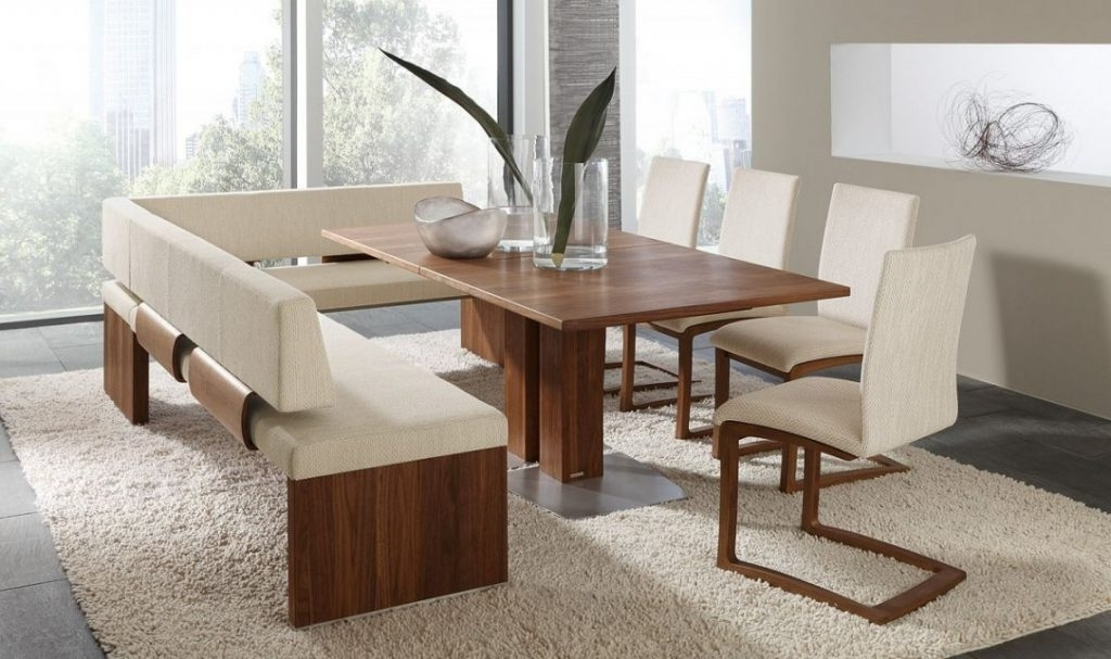 Dining Tables Bench Seat With Back For Well Known Dining Table Bench With Back – Who Designed This? (View 4 of 20)