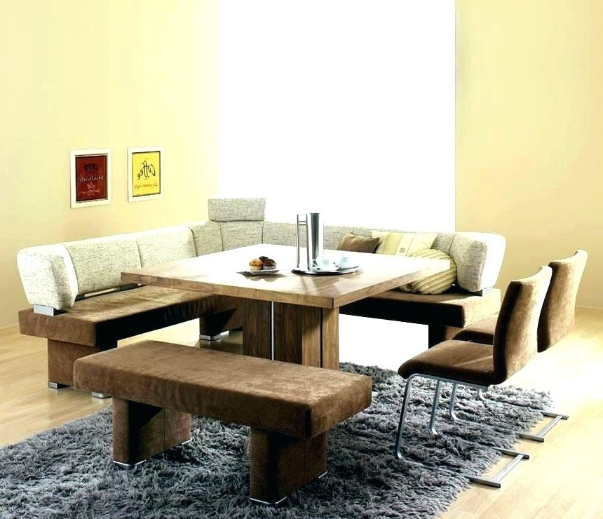 Dining Tables Bench Seat With Back In Most Popular Dining Table Bench Seat With Back – Modern Computer Desk (Gallery 6 of 20)