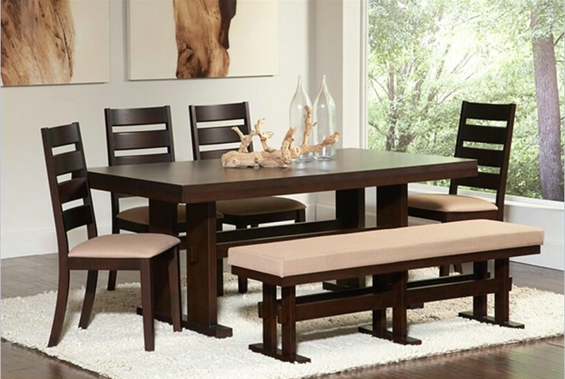 Dining Tables Bench Seat With Back Intended For Well Liked 26 Dining Room Sets (big And Small) With Bench Seating (2018) (View 2 of 20)