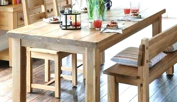 Featured Photo of Dining Tables Bench Seat With Back