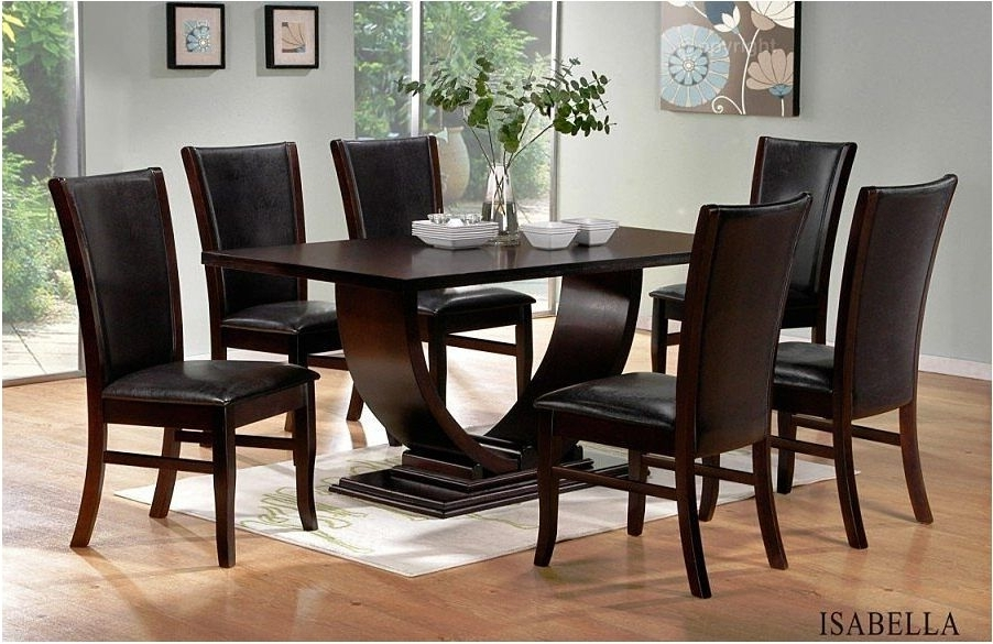 Dining Tables Dark Wood With Regard To Favorite Fantastic Contemporary Dining Room Table Black Table Legs Shaped X (Gallery 7 of 20)