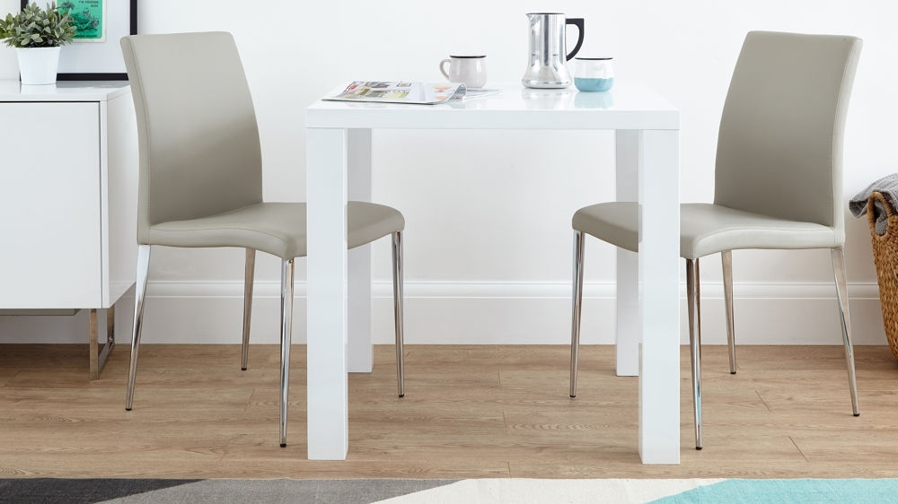 Dining Tables: Extaordinary White Square Extending Dining Table Intended For Trendy White Square Extending Dining Tables (Gallery 2 of 20)