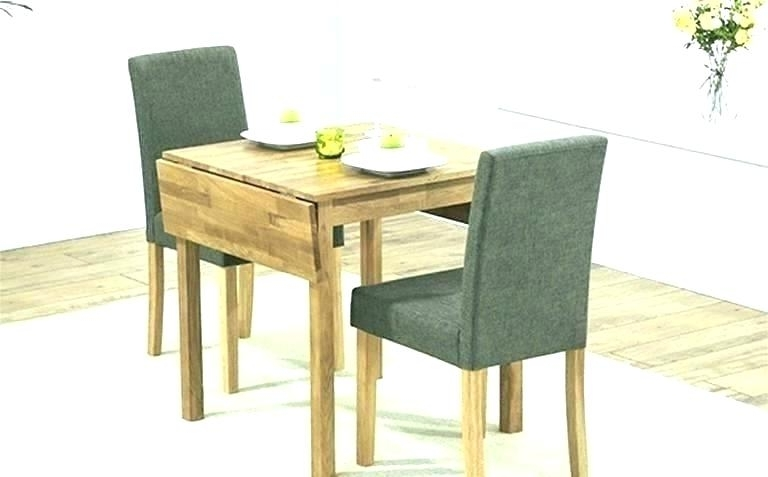 Dining Tables For Two For Newest Compact Dining Table With Chairs And Uk Small Room Sets For Spaces (Gallery 5 of 20)