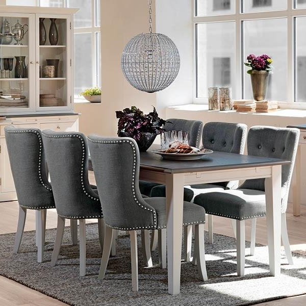 Dining Tables Grey Chairs Regarding Latest Grey Dining Room Furniture For Well Extending Table In And Chairs (View 8 of 20)