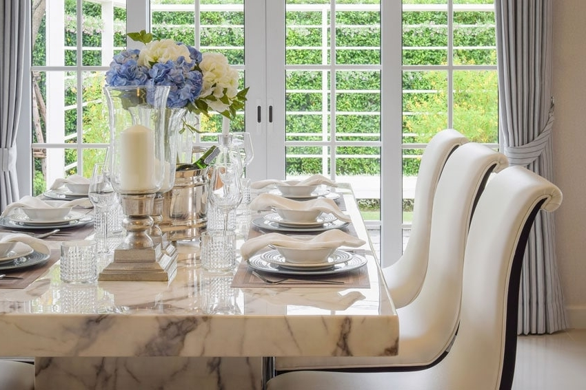 Dining Tables Regarding Best And Newest Marble Dining Table Designs, Pros And Cons, Costs And Tips – Sefa Stone (Gallery 12 of 20)