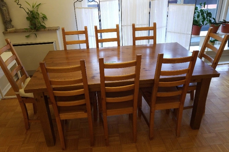Dining Tables Regarding Most Recent Laurent 7 Piece Rectangle Dining Sets With Wood Chairs (View 5 of 20)
