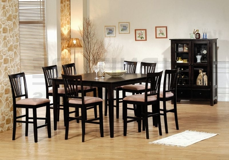 Dining Tables Set For 8 For Favorite 51 Dining Table Set 8 Chairs, Chadoni 7 Piece Dining Set (Table With (Gallery 4 of 20)