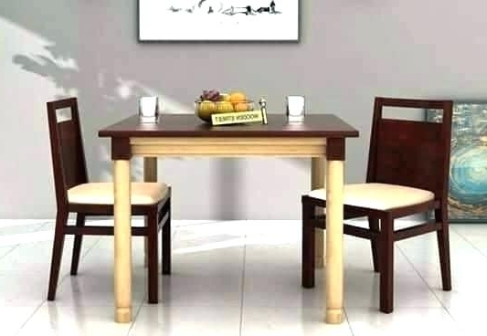 Dining Tables With 2 Seater Regarding Most Recent Stylish Idea Small 2 Seater Dining Table Inspiring Simple Design For (View 9 of 20)