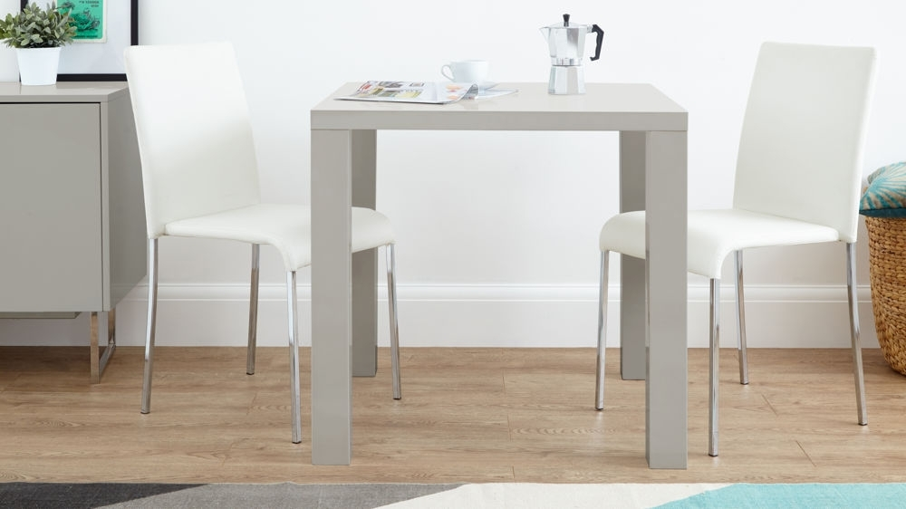 Dining Tables With 2 Seater With Regard To Most Current Grey Gloss 2 Seater Dining Set (View 13 of 20)